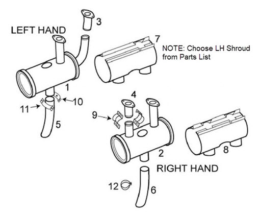 Cessna 150 Exhaust System Itemized Parts List