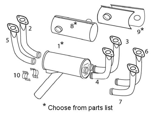 Cessna 172 Exhaust System Itemized Parts List